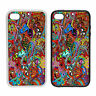 Psychedelic Monsters -Rubber and Plastic Phone Cover Case- Abstract Design