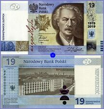 👀 POLAND 19 ZLOTYCH 2019 *100th ANNIVERSARY of the PWPW*HYBRID*UNC*+ BOOKLET