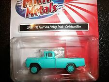 Classic Metal Works HO Scale '60 Ford 4x4 Pick-Up Caribbean Blue  30451  BTTG