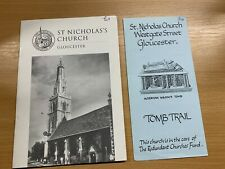 """VINTAGE """"ST NICHOLAS'S CHURCH GLOUCESTER"""" ILLUSTRATED PAPERBACK GUIDE BOOK"""