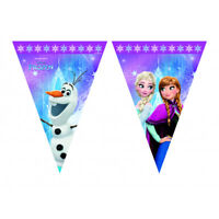Disney Frozen Happy Birthday Party Themed Flag Bunting Banner 2.3m Long