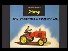 Massey Harris Pony Workshop Service Manual 180pg with Mh Tractor Repair & Tuning