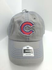 Chicago Cubs Distressed Patch Fan Favorite Gray Strapback Hat Cap New