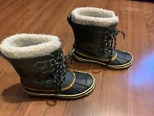 Boys Winston Winter Boots - Cat & Jack Green Size 3