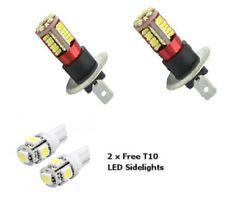 H1 57 LED 6000K PAIR SUPER WHITE XENON Upgrade Head light Bulbs Dip Main Beam