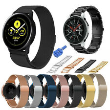 For Samsung Galaxy Watch Active 2 42 40 44mm Stainless Steel Band Silicone Strap