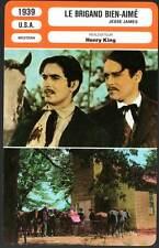 LE BRIGAND BIEN-AIME - Power,Fonda,Scott,King (FICHE CINEMA) 1939 - Jesse James