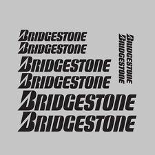 8x Bridgestone tyres/wheels Motor cycle/bike calcomanía de pegatinas gráficos Kit