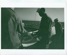 1969 8X10 PHOTO NAVY CREW ON MINESWEEPING BOAT SHIP VINTAGE