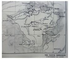 1929 Caton-Thompson - Gardner - LAKE MOERIS - Faiyum Depression - EGYPT - Map  1