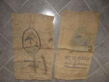 Ancien sac en toile de jute potasse d'alsace  cigogne design deco jute bag