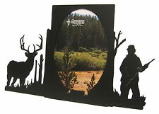 "Buck Deer Hunting Oval Picture Frame 5""x7"" V  Hunter Hunt"