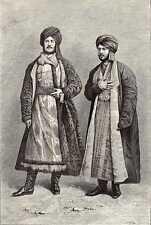 antique print jew Jews Tashkent Uzbekistan 1880 holzstich jude juden