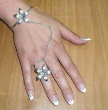 baciamano gioiello fiore argento ELEMENTI A SCELTA  BACIA MANO bracciale rigido