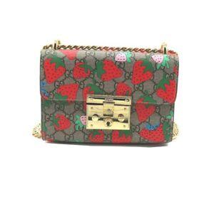 Gucci Padlock Gg Strawberry Small Shoulder Bag RRP 2890