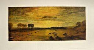 "VINTAGE TATE GALLERY ORIGINAL J.M.W. TURNER PETWORTH PARK PRINT 1978 28""X15"""