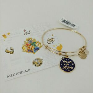 NWT ~ Authentic ALEX AND ANI Harry Potter YOU ARE SO LOVED Charm Bangle ~ NEW