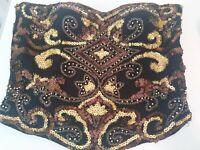 Beautiful Embellished Bustier  by Diane freis100% Silk, Size M, handbeaded