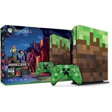 DND 19627 Microsoft 23C-00009 XBOX ONE S Console 1TB Minecraft Limited Edition +
