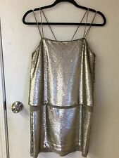 BANANA REPUBLIC Silver Sequin Mini Party Dress Size 2 New With Tag
