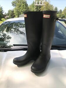 Hunter Wft1000rma Tall Snow Boots for Women, Size 9 - Black