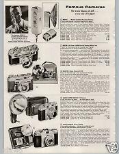 1958 PAPER AD Nikon S-2 35MM Camera Nikkor Lens Ansco Super Memar Minox Mini