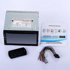 "Double 2DIN In Dash Car Stereo CD DVD Player USB SD Bluetooth IPOD FM Radio 7"" J"