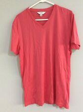 CALVIN KLEIN Coral color bodyfit vneck mens T-shirt Sz L BRAND NEW
