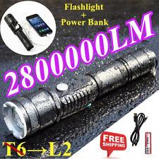 Super Bright LED Searchlight Flashlight Rechargeable Handheld Spotlight Portable