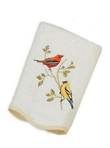 Avanti Premier Songbirds Hand Towel in Embroidered In Ivory Guest Bathroom
