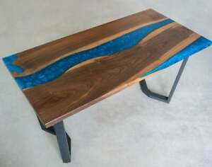 """36"""" x 22"""" Epoxy Resin Coffee Table Top / Blue Epoxy Table Top Home Furniture"""