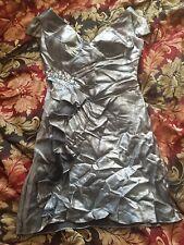 852a6bc876c7 Silver Evening Dress Size 14 Black vintage vinted
