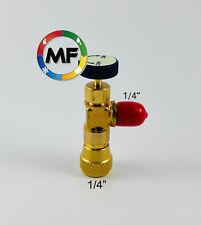 """RUBINETTO SHUT-OFF PREMIVALVOLA M. 1/4"""" SAE - GAS R407C R22 CLIMATIZZATORE"""