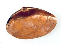 Vintage Copper w Brass Legs Seashell Ashtray Home Decor Mid Century Modern