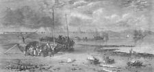SCOTLAND. Newhaven Pier. Fishing-Boats arrived, antique print, 1862