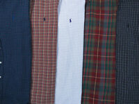 Lot Of 5 Ralph Lauren Polo Long Sleeve Button Front Shirts Mens 16 L 1 NWOT