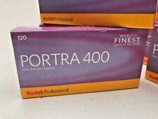 Kodak Portra 400 5 roll pack 120 colour negative film dated 2021
