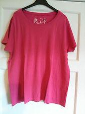JH35) Plain pink tshirt Arcadia group size 22/24 short sleeved