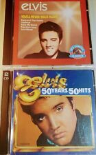 Twin Deal CD's Best Elvis : You'll Never Walk Alone CD + Elvis 50yrs-50Hits