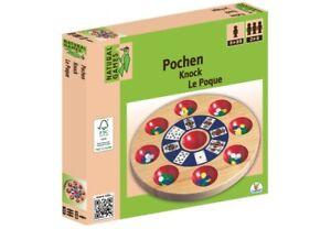 Natural Games Pochen 24,5 cm Pochbrett Strategiespiel Spiel Gesellschaftsspiel
