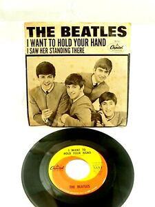 The Beatles I want to Hold Your Hand/Saw Her standing There Pic Sleeve Cap 5112