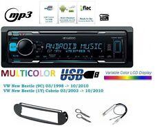 Kenwood kmm122 auto-radio AUX FLAC MP3 USB para el NUEVO ESCARABAJO DE VW (9c) (