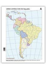 Paq/50 mapas suramerica politico mudos. ENVÍO URGENTE (ESPAÑA)