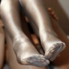 Women Ultra-thin One Line Crotch Oil Shiny Glossy Pantyhose Nylon Tights Hosiery