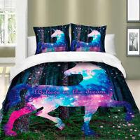 Unicorn Bedding Set Soft Duvet Cover Set For Comforter Pillow Case All Size