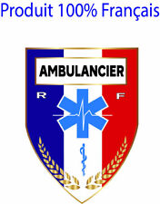 STICKERS Autocollant AMBULANCIER , patch, écusson pare-brise voiture