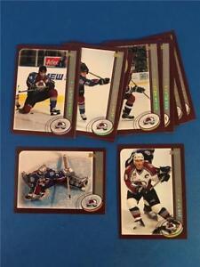 2002/03 Topps Colorado Avalanche Team Set 14 Cards