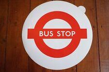 More details for 1970s bus stop lolly sticker transfer london transport - white