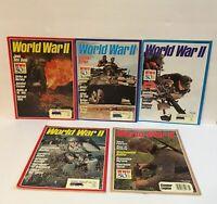 World War 2 Magazine Lot Of 5 1992 WWII 50th Battles-Java Ceylon Tanabogo