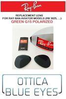 LENTI di Ricambio RAYBAN AVIATOR RB 3025 Replacement Lenses GREEN POLARIZED ray